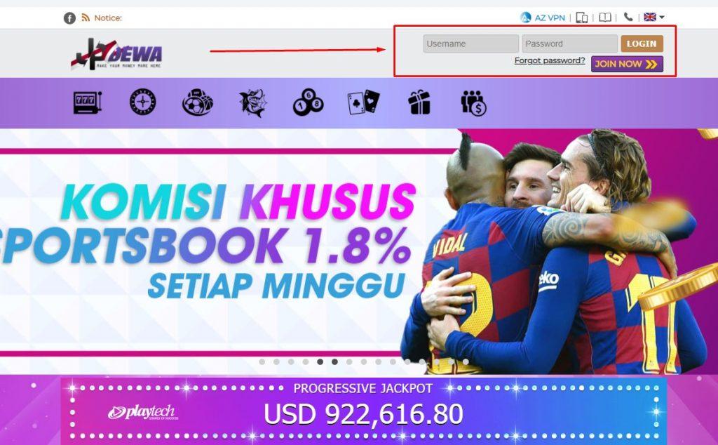 Log in Situs Judi Bola